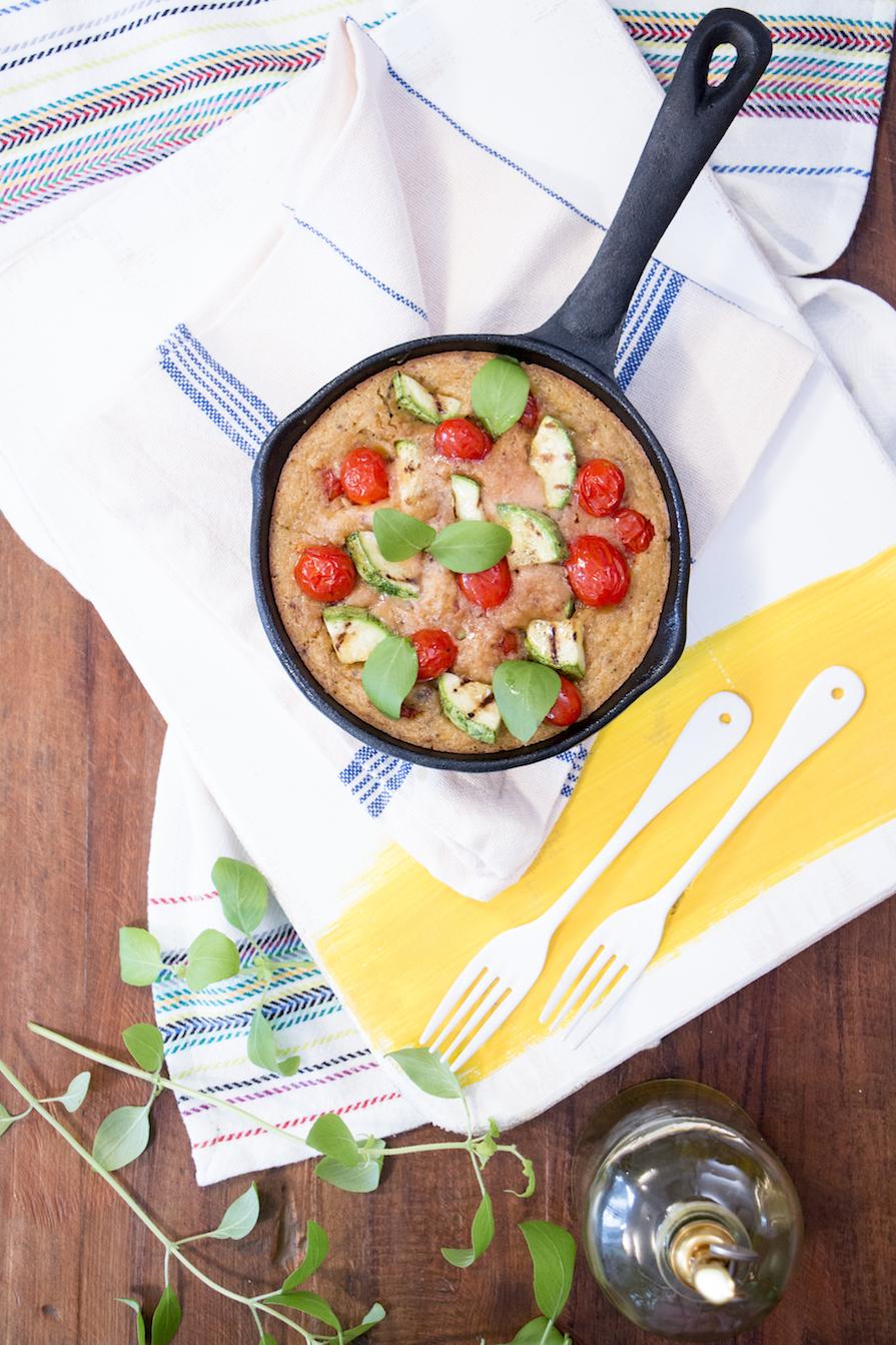 frittata de abobrinha e tomate