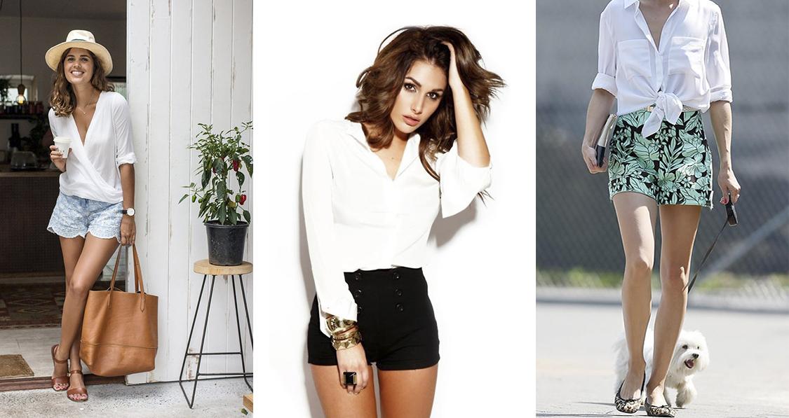 como-usar-camisa-branca-dani-noce-shorts