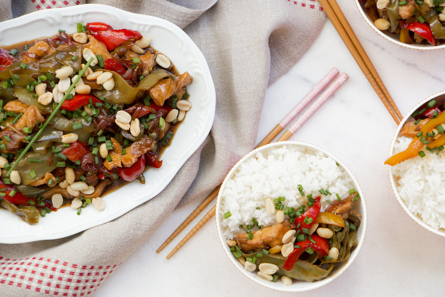 receita-como-fazer-frango-chines-amendoim-pimentao-arroz-vagem-cebolinha-2
