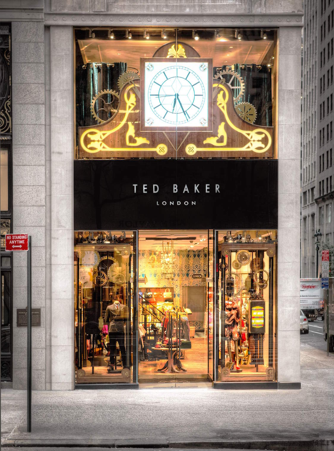 NEW YORK - AUGUST 10: TED BAKER 5TH AVENUE EXTERIORS on AUGUST 10,  2012 in New York City.   (Matthew Peyton)