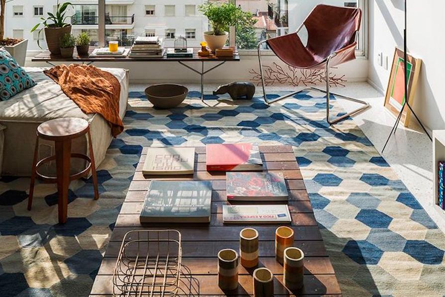5 tapetes para uma sala moderninha