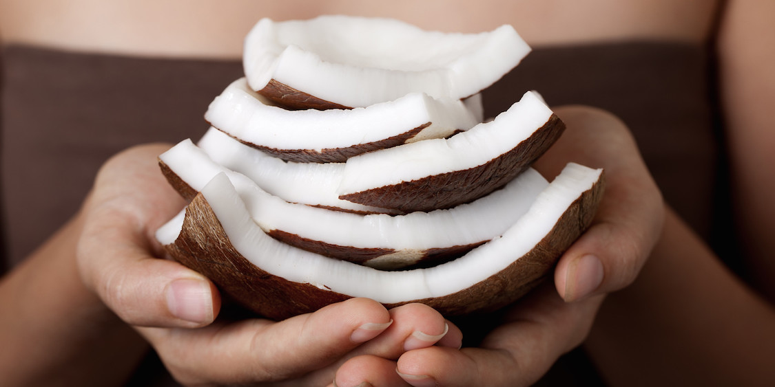 Coconut on hands. SPA collection.; Shutterstock ID 81669139; PO: aol; Job: production; Client: drone