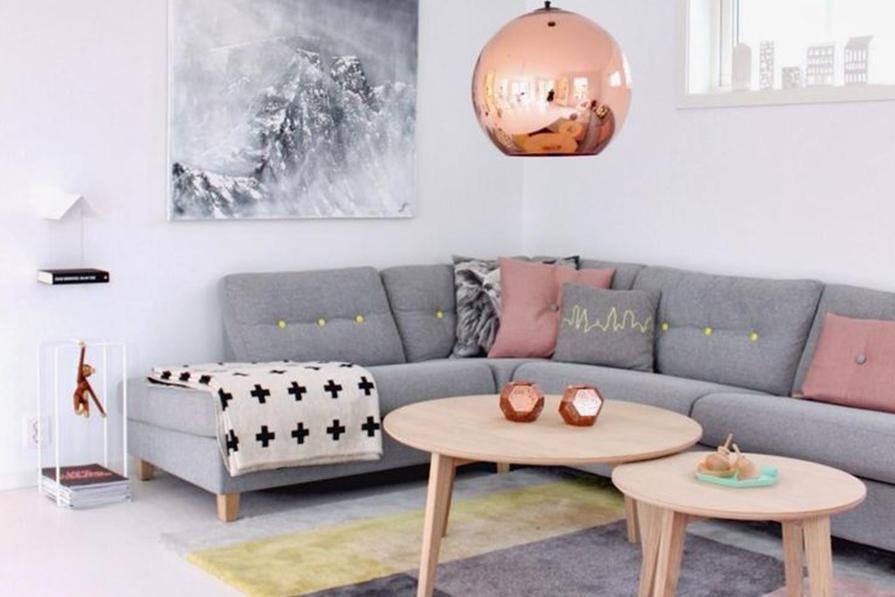 Desejo do dia: sofá cinza