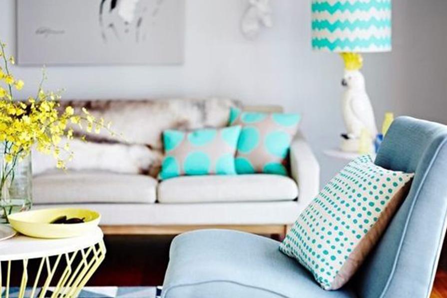 Inspiração para sala: colorida e geométrica