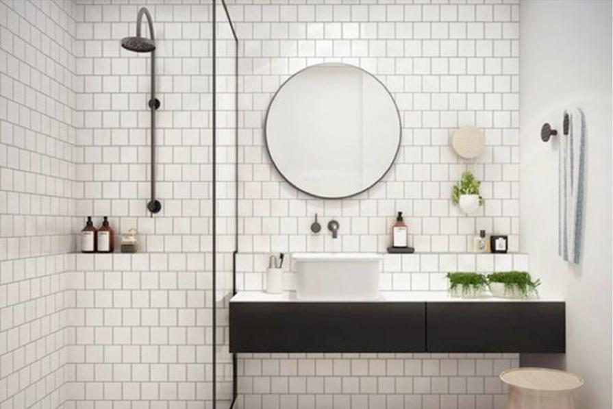 Banheiros clarinhos