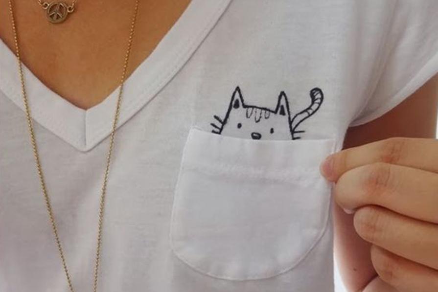DIY: Customizando camiseta branca