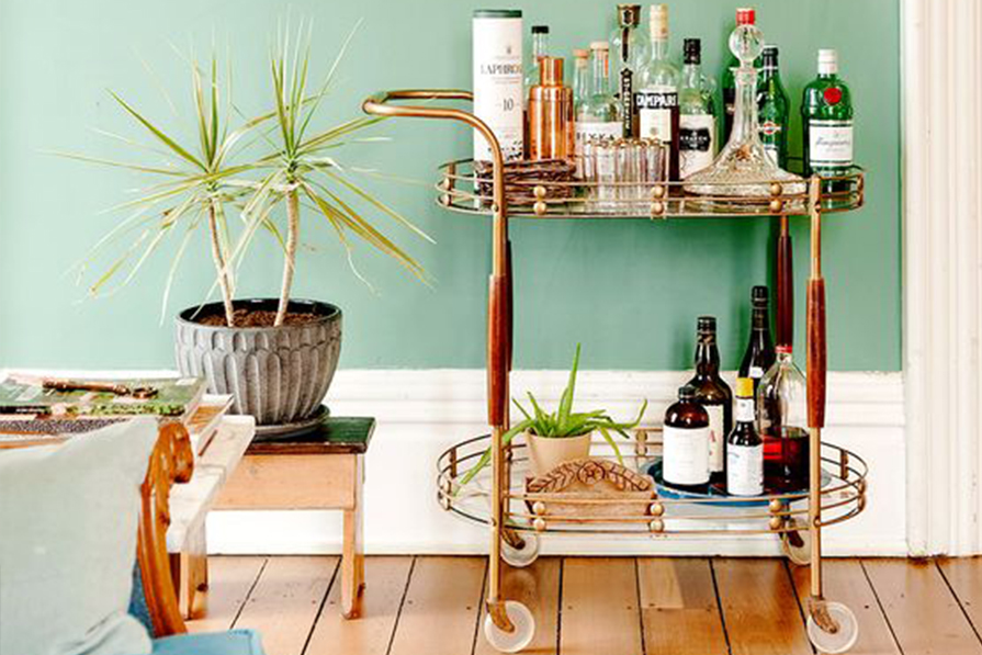 Toque cool: bar cart