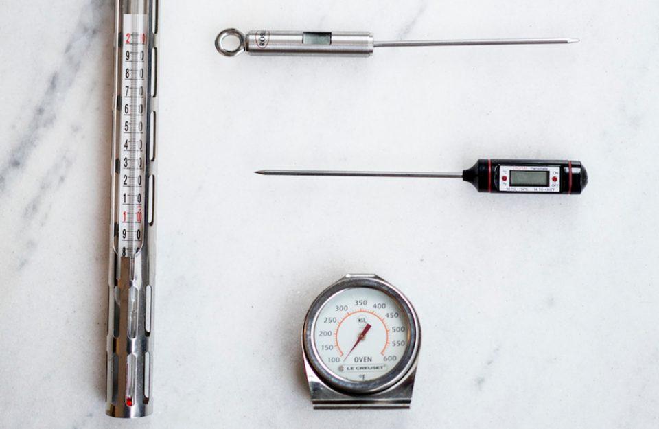 Tipos de termômetro para uso culinário