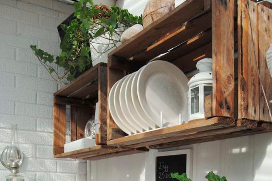 Cozinha: caixotes de madeira para decorar e organizar