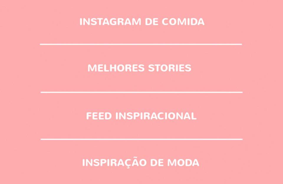 Insta Favs: Listas para os Stories