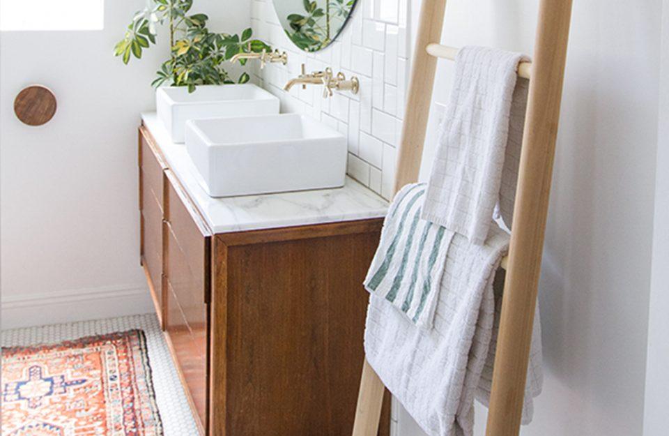 Detalhe Cool no Banheiro: Suporte para Toalha