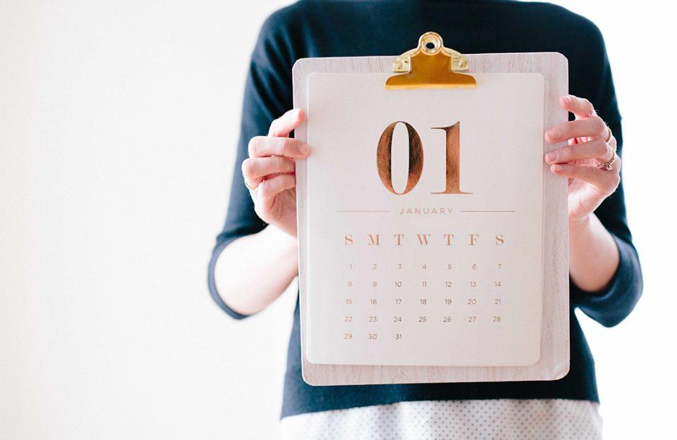 Calendários Gratuitos para 2019!