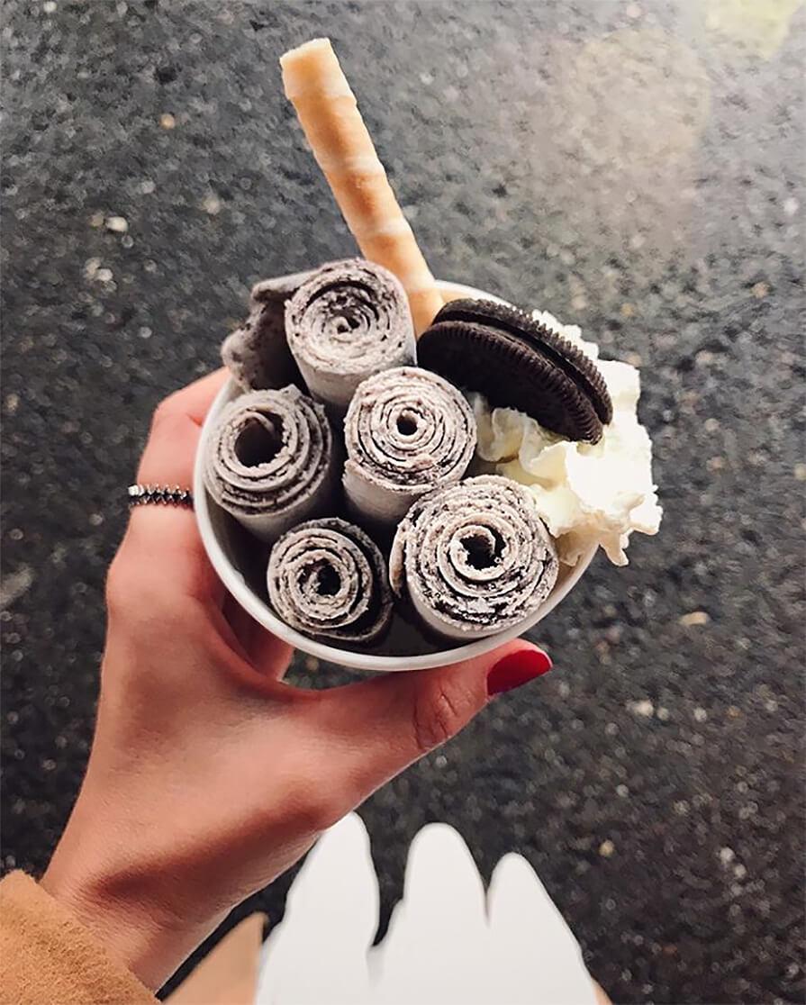 sorvete de rolo