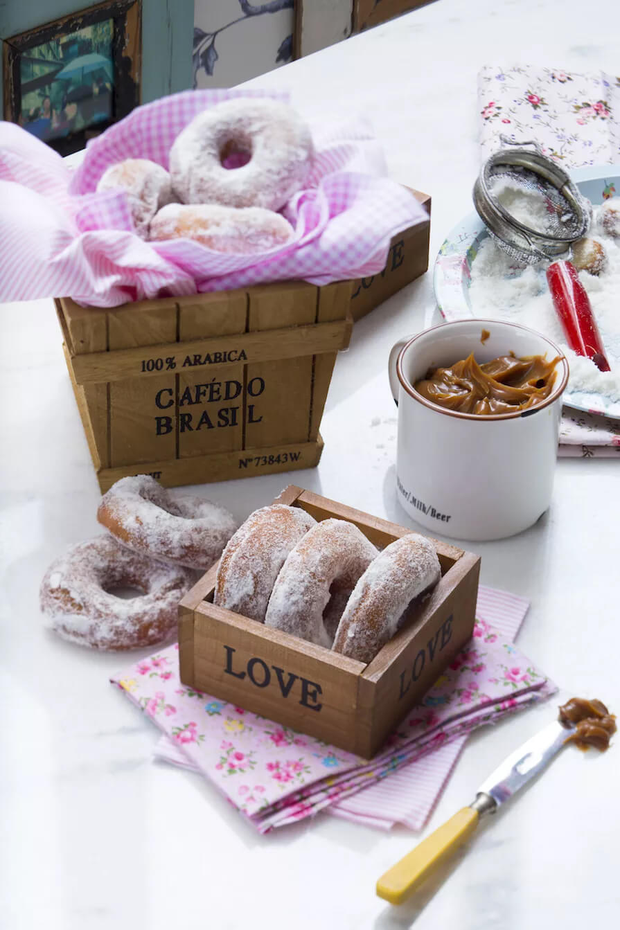 donuts de doce e leite