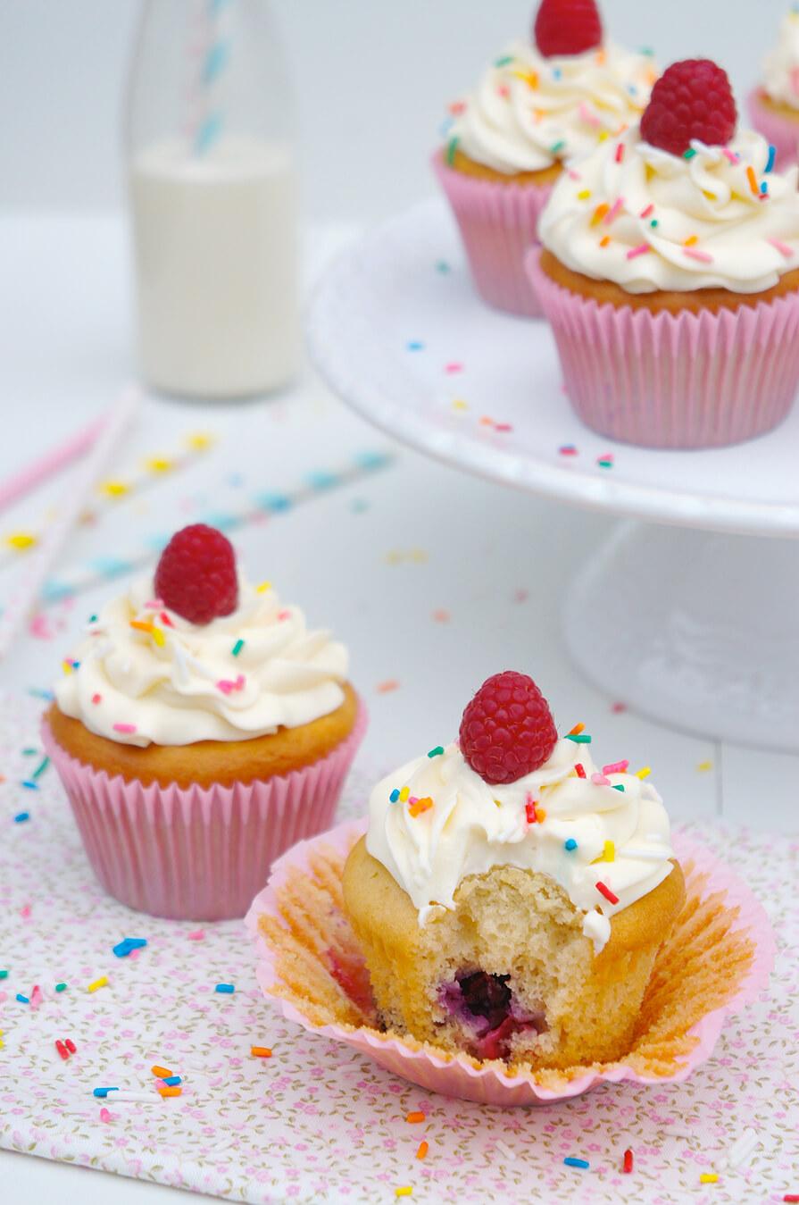 cupcake de framboesa