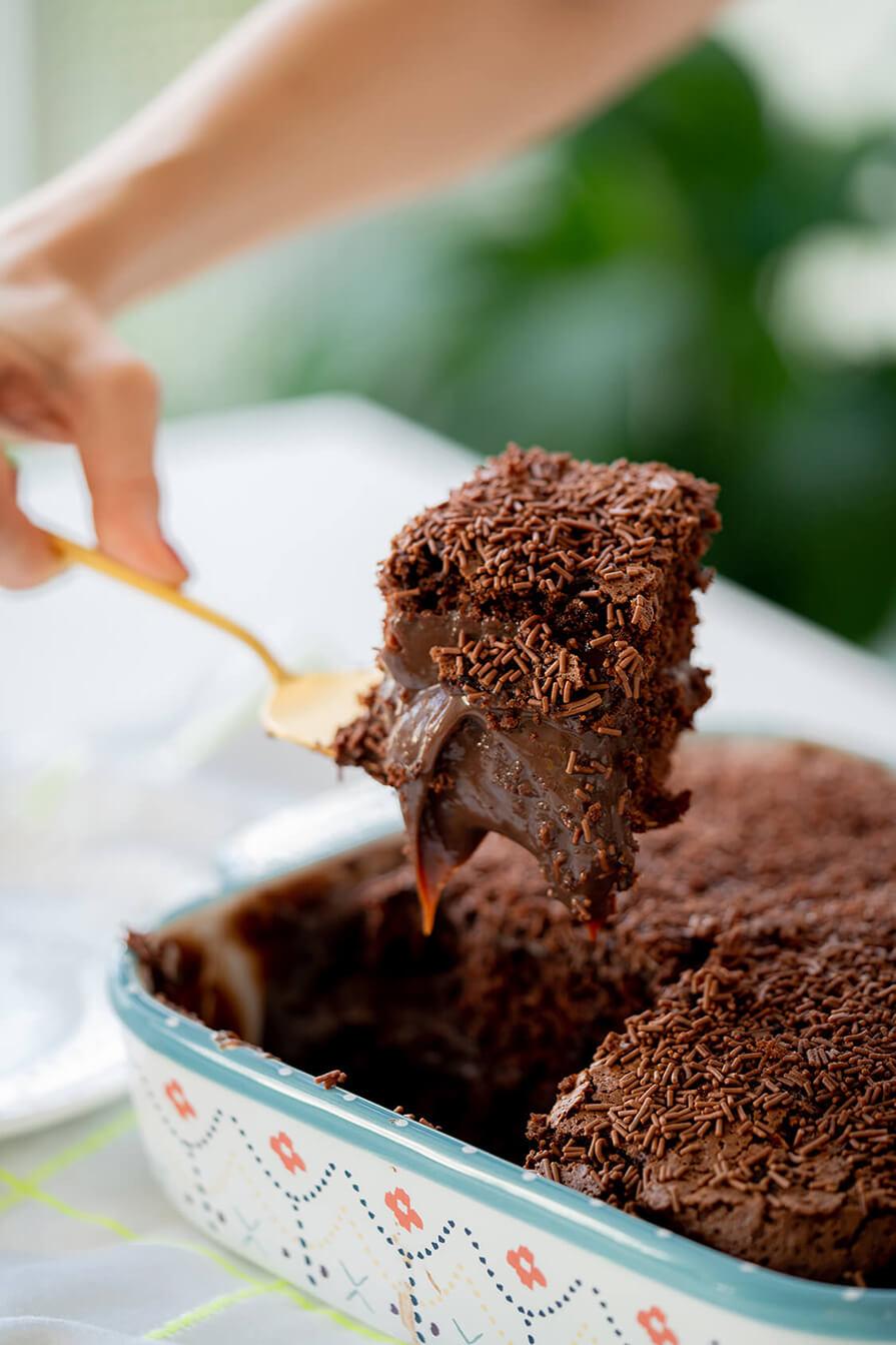 bolo gelado de brigadeiro