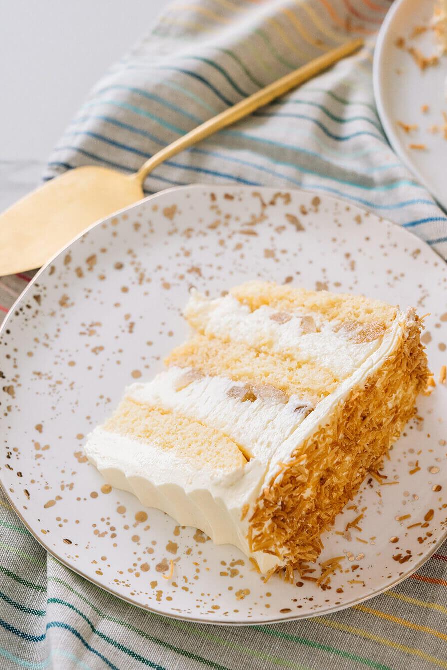 bolo de abacaxi cremoso