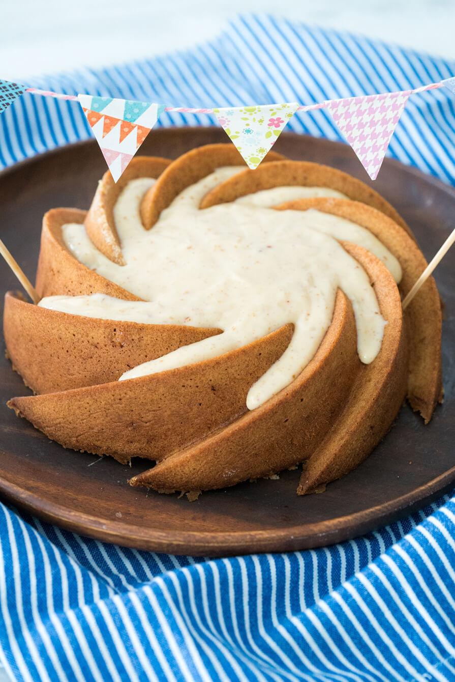 bolo vulcão paçoca