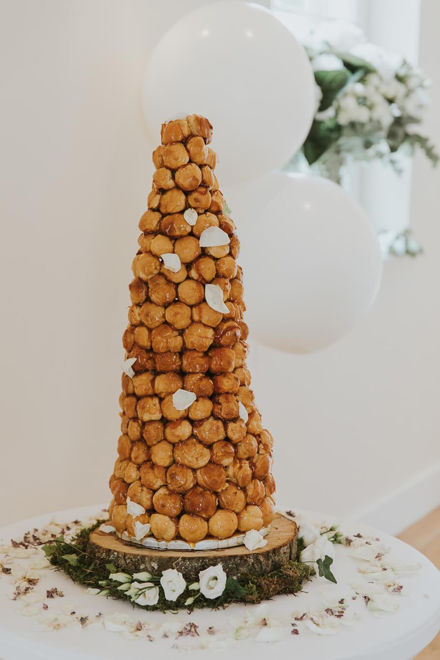 história do bolo de casamento