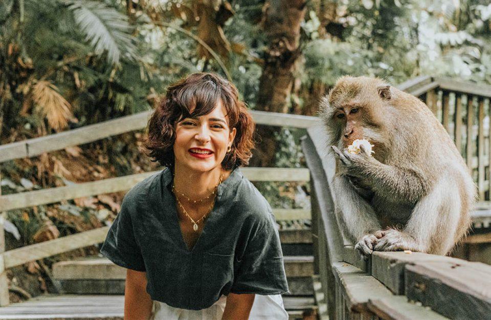 A Floresta Sagrada dos Macacos em Bali