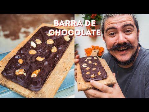 BARRA DE CHOCOLATE FEITA EM CASA