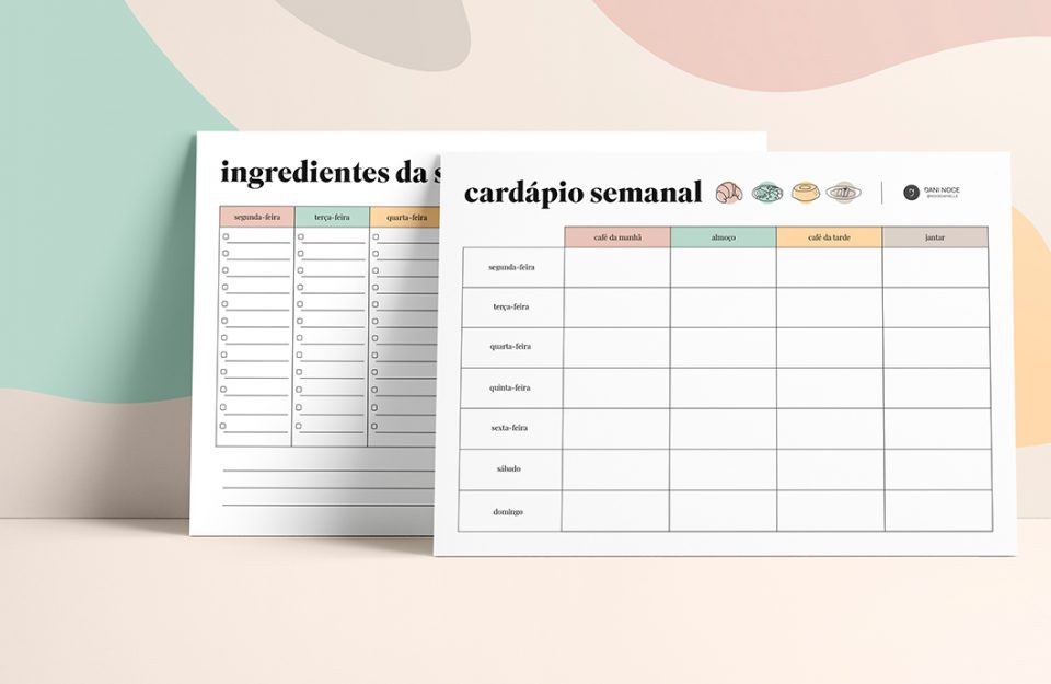 Dicas para Cozinhar em Casa + Planner de Cardápio Semanal